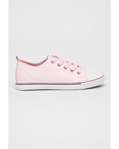 Розовые ботинки на шнуровке Answear
