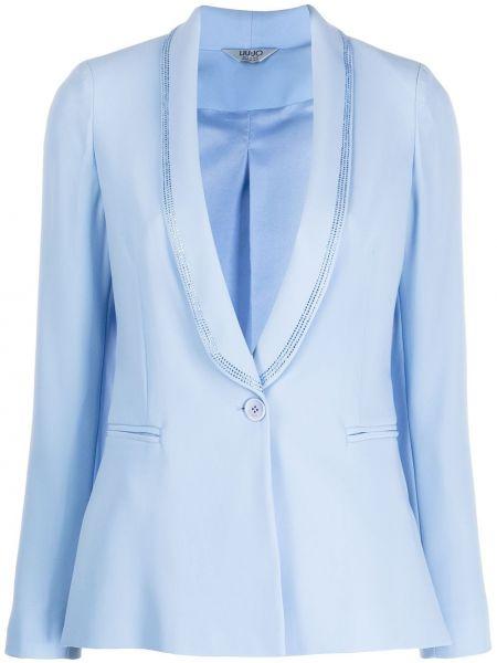 Классический пиджак с накладными карманами в полоску Liu Jo
