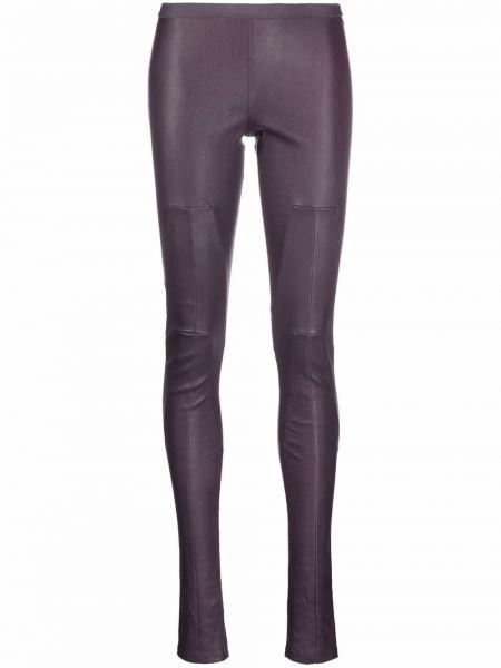 Фиолетовые облегающие леггинсы Rick Owens Drkshdw