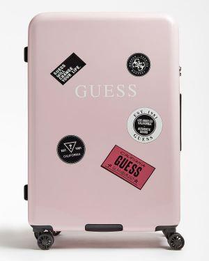 Walizka duża - różowa Guess