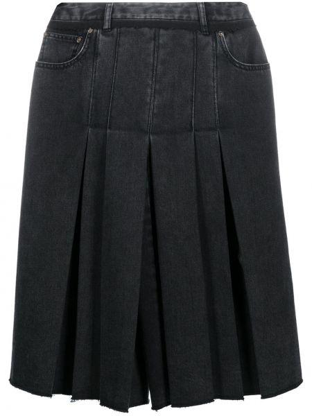 Плиссированные черные кюлоты с высокой посадкой Maison Margiela