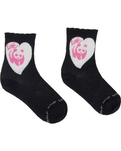Носки белые черные Doa