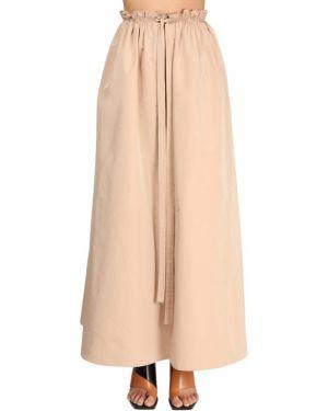 Beżowa spódnica maxi z wysokim stanem bawełniana Givenchy