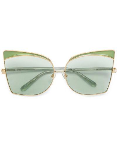 Солнцезащитные очки металлические зеленый N21
