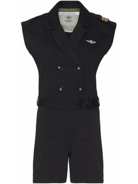 Czarny szlafrok Aeronautica Militare