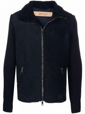 Niebieska kurtka wełniana Giorgio Brato
