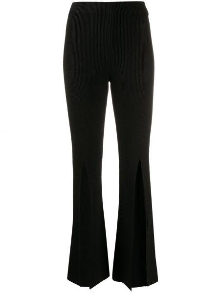 Шерстяные брюки - черные Bevza