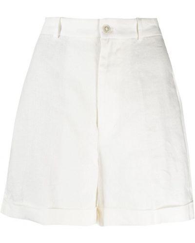 Białe szorty z wysokim stanem Polo Ralph Lauren