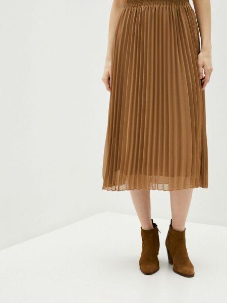 Бежевая плиссированная юбка B.young