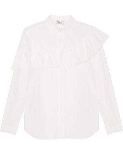 Блузка с длинным рукавом прямая классическая Red Valentino