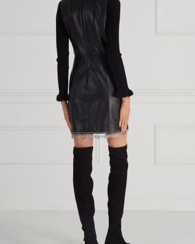 Вечернее платье футляр кожаное Alexander Wang