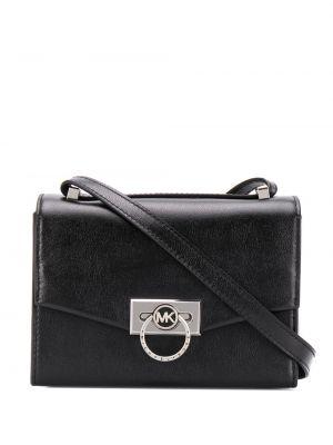 Кожаная черная сумка через плечо Michael Michael Kors