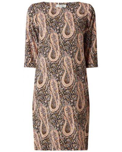 Brązowa sukienka rozkloszowana z wiskozy Soyaconcept