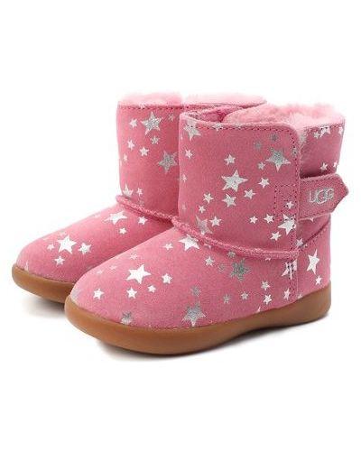 Шерстяные розовые ботинки с подкладкой Ugg