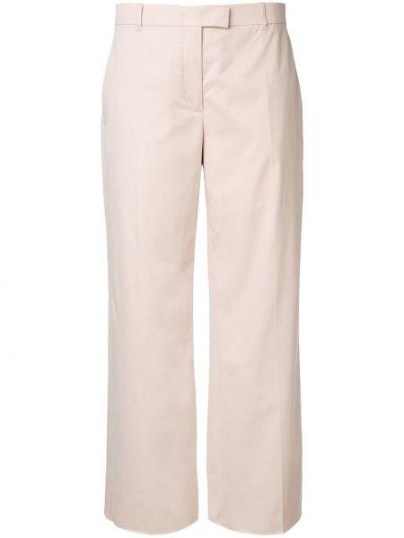 Кашемировые бежевые расклешенные брюки эластичные Agnona