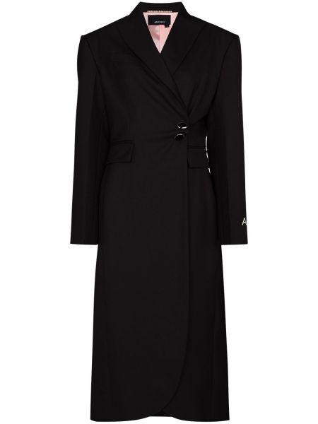 С рукавами акриловое черное боди с длинными рукавами на пуговицах Anouki