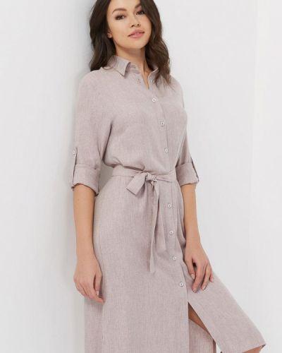 Платье платье-рубашка бежевое Verna Sebe