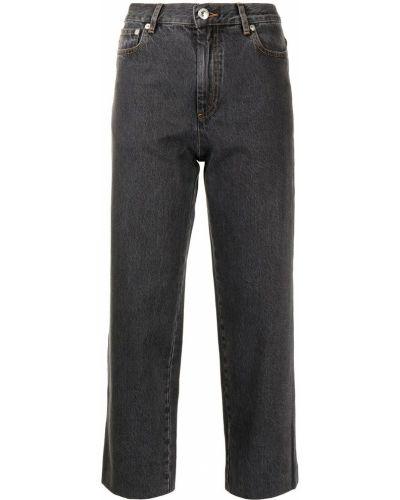 Серые укороченные брюки A.p.c.