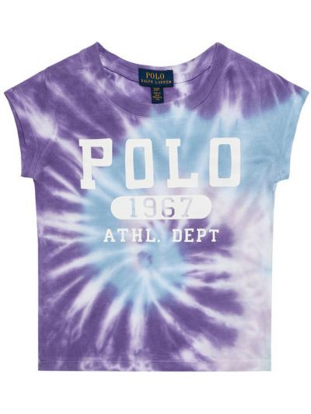 Fioletowy t-shirt Polo Ralph Lauren
