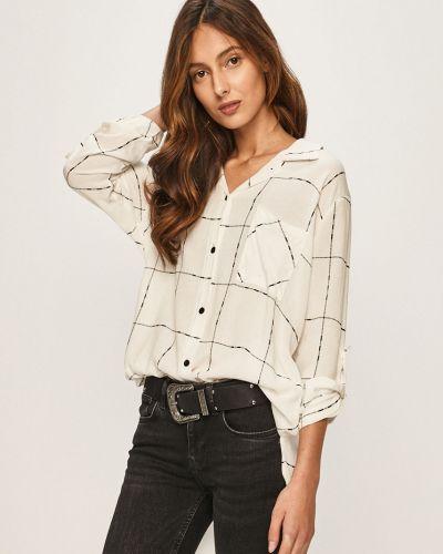Блузка с длинным рукавом белая классическая Answear
