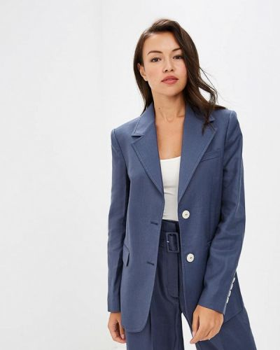 Синий пиджак осенний Mango