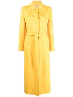 Желтое пальто с потайной застежкой Emilio Pucci