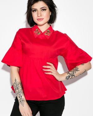 Блузка с вышивкой с поясом Time Of Style