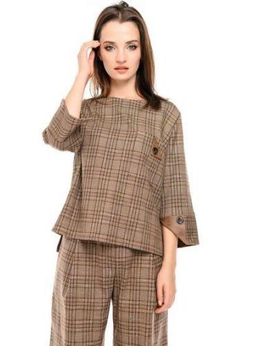 Блузка - коричневая Alito