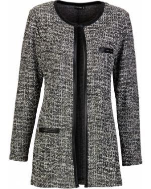 Пиджак черный твидовый Bonprix