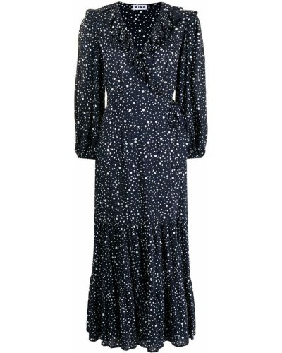 Niebieska sukienka z printem Rixo