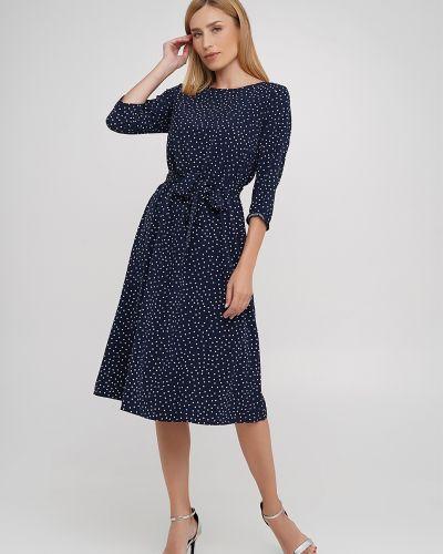Платье с поясом - синее Anastasimo