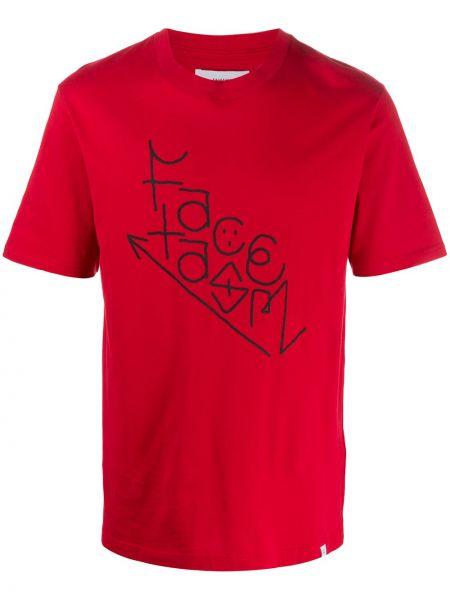 Koszula krótkie z krótkim rękawem z logo z nadrukiem Facetasm