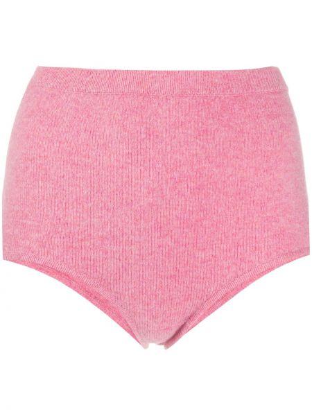 С завышенной талией розовые трикотажные шорты Sandro Paris