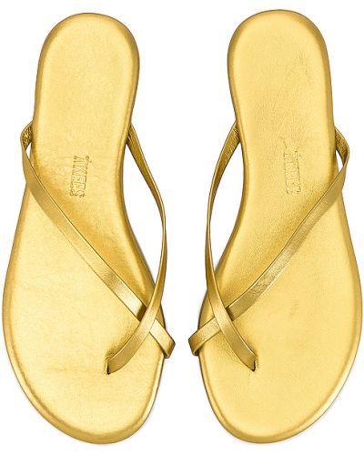 Złote sandały Tkees