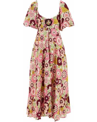 Приталенное платье с рукавами с декольте винтажное со складками Dodo Bar Or