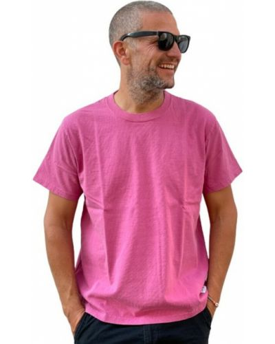 Różowa t-shirt Edwin