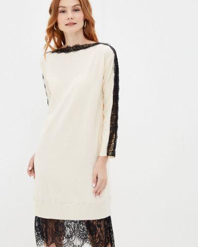 Вязаное белое платье Rinascimento