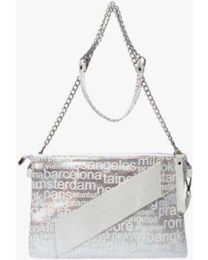 Серебряная кожаная сумка амоо