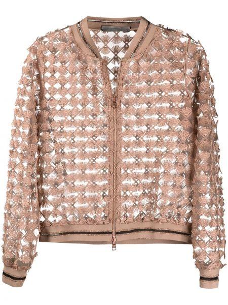 Длинная куртка с манжетами твидовая круглая D.exterior