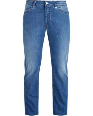 Прямые джинсы с заклепками с нашивками Cortigiani
