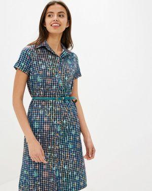 Платье платье-рубашка синее Gregory