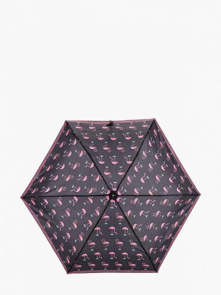 Черный складной зонт Fabretti