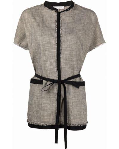 Прямой коричневый пиджак с короткими рукавами Antonelli