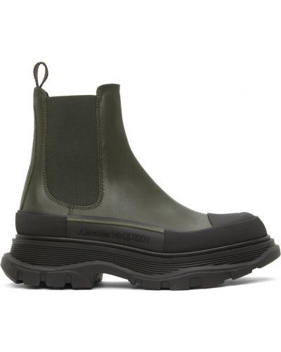 Черные ботинки на шпильке Alexander Mcqueen