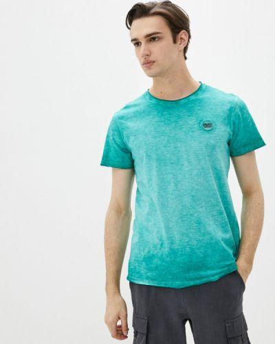 Зеленая футболка с короткими рукавами Blend