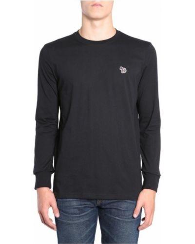 Z rękawami t-shirt z mankietami z haftem Paul Smith
