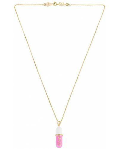 Złoty naszyjnik łańcuch - biały Bracha
