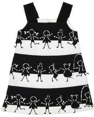 Хлопковое платье с подкладкой с декольте на молнии Mi.mi.sol.