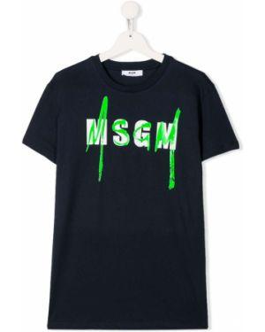 Рубашка темно-синий синий Msgm Kids