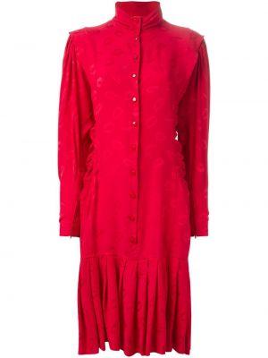 Плиссированное облегающее платье винтажное Emanuel Ungaro Pre-owned